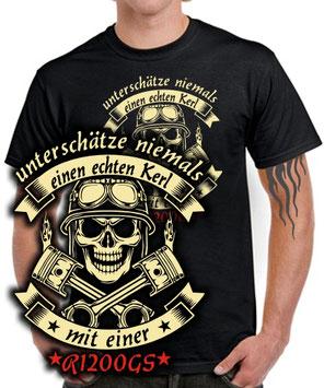 Biker T-Shirt R1200GS ECHTER KERL Motorrad Tuning Treffen bmw Spruch FUN SATIRE
