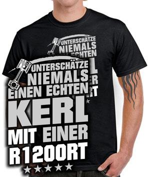 R1200RT Tuning Zubehör Biker T-SHIRT ECHTER KERL Spruch Motorrad Fahrer lustig