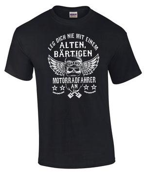 T-Shirt motorrad biker spruch alter mann bart