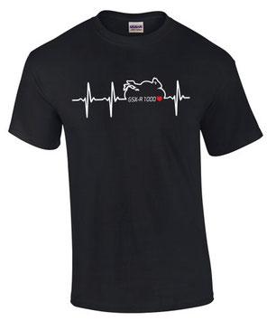 GSX-R 1000 Motorrad Zubehör Tuning Zubehör Teile T-Shirt