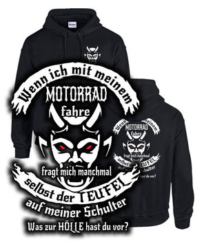der könig muss motorrad fahren Biker sweatshirt spruch lustig teufel