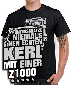 Biker T-SHIRT ECHTER KERL Z1000 Tuning Zubehör Motorrad Treffen Spruch lustig