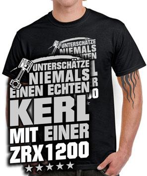 Details zu  ZRX1200 Tuning Zubehör ECHTER KERL Biker T-SHIRT Motorrad Fahrer Spruch lustig