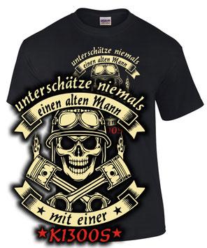 K1300S Tuning T-Shirt ALTER MANN MOTORRAD Treffen bmw Biker SATIRE Spruch Teile