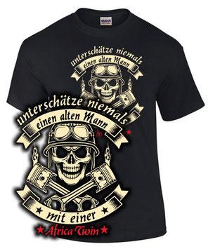 Africa Twin T-Shirt Tuning Zubehör ALTER MANN MIT EINER CRF 1000 L Motorrad
