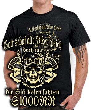 S 1000 RR Tuning Zubehör Spruch Biker T-Shirt NUR DIE STÄRKSTEN FAHREN Motorrad