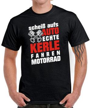 Biker T-Shirt Spruch ECHTE KERLE FAHREN MOTORRAD Fahrer lustig witzig Tuning