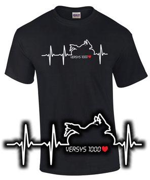 versys 1000 Tuning Zubehör T-Shirt Motorrad