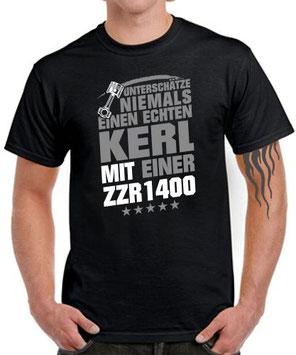 ECHTER KERL ZZR1400 Tuning Biker T-SHIRT Motorrad Fahrer Spruch lustig Zubehör