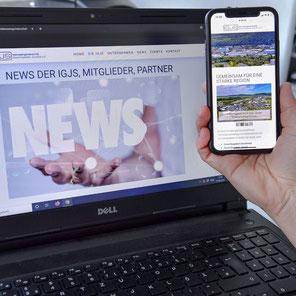 IGJS Webauftritt im neuen Design und jetzt auch angepasst auf mobile Endgeräte