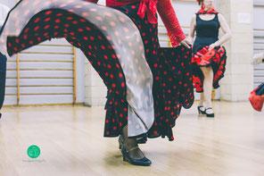 sevillanas, flamenco, falda, baile, españa