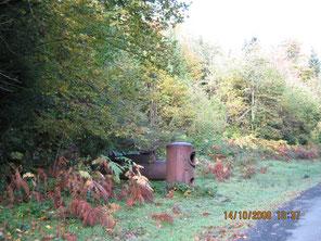 Locomobile d'Automne en Forêt d'Issaux : vous ne la verrez plus, des brigands ferrailleurs s'en sont emparré, chalumeau à l'appui ...