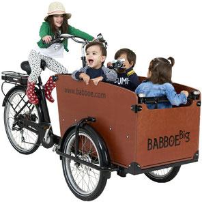Babboe Big-E Lasten e-Bike, Lastenfahrrad mit Elektromotor, e-Cargobike 2020