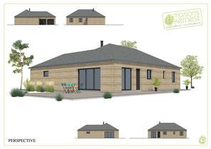 maison moderne de plain pied en bois