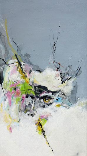 Portrait 2. Acrylique sur toile 100cmx50cm
