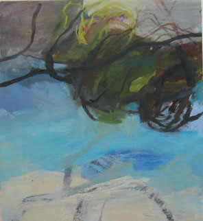 Landschaft 4 2009 60 x 55 cm Öl / Leinwand