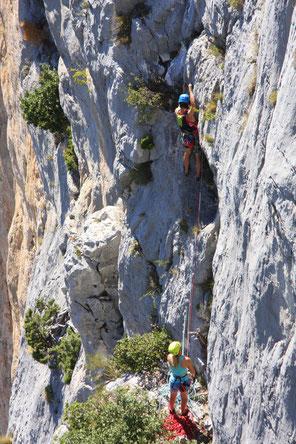 Bild: Kletterer in den Gorges du Verdon