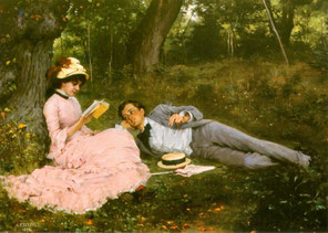 ALBERT EDELFELT - Idylli 1878