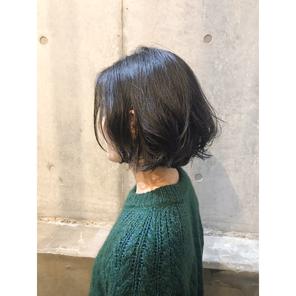 横浜・石川町、美容室Grantus,ヘアスタイル、ミディアム、ゆるふわ、デジタルパーマ