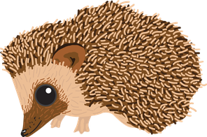 British wildlife Hedgehog woodland animal vinyl sticker