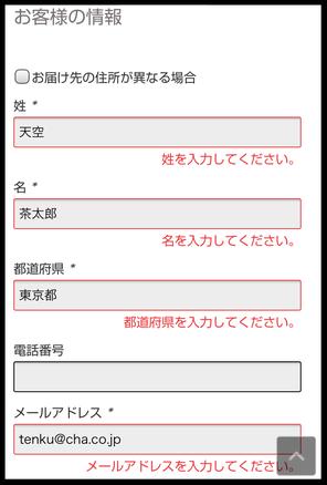※メールアドレスは半角入力※