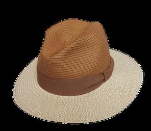 """70815 Hut """"Giovanni"""" beige mit braun"""