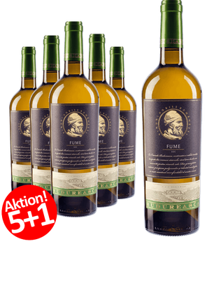6-ER Weinpaket Budureasca Premium FUME 2016 (Chardonnay 33%, Sauvignon Blanc 34%, Grauer Burgunder (Grauburgunder) 33%)