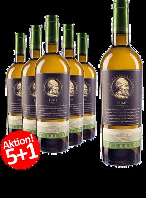 6-ER Weinpaket Budureasca Premium FUME 2017 (Chardonnay 33%, Sauvignon Blanc 34%, Grauer Burgunder (Grauburgunder) 33%)