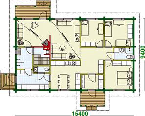 Blockhaus - Klein, aber fein! Grundrissplanung - Hausplanung - Individuelles Holzhaus - Typenhaus - Hertellerhaus - Baukosten  - Winterfestes Blockbohlenhaus - Wohnblockhaus - Energiesparhaus - Niedrigenergiehaus - Entwurfsplanung - Imenau - Weimar - Haus