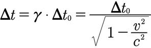 Formel für die Zeitdilatation