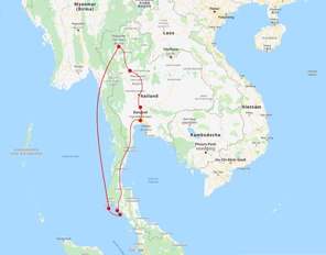 Backpacking Thailand 3 Wochen