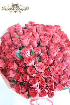 プロポーズ 108本のバラ 花束 ディズニーランドホテル 配達 オーダーフラワー  シュシュ chouchou