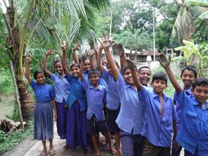 あいにくの雨模様にもかかわらず、終始楽しそうに活動に取り組んだ子どもたち