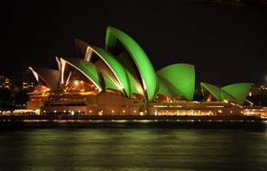 Opéra de Sydney, jour de la Saint-Patrick