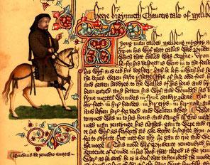 Portrait de Geoffrey Chaucer, manuscrit Ellesmere