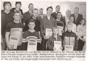 Sportlerehrung 2003