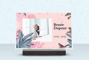 IQONIQ, plaques funéraires personnalisées design et tendance