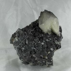 Calcite on Galena Bleiberg Carinthia Austria