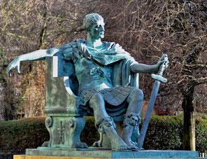 Statue de Constantin Ier à York, en Angleterre.