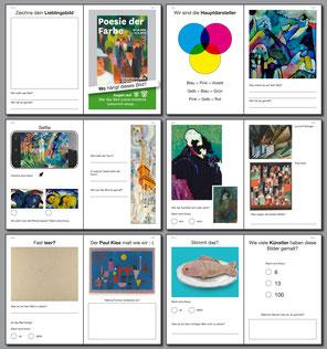 Broschüre mit verschiedenen Aufgaben