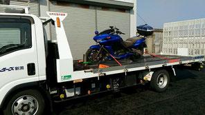 バイクも搬送可能です
