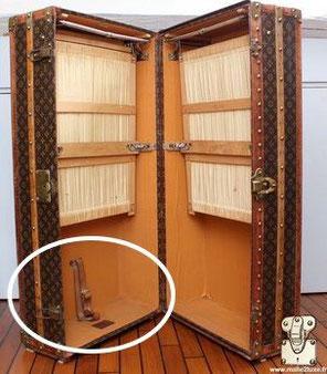 emplacement du steamer Bag dans une wardrobe