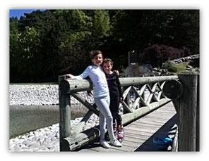 Avec Célia au plan d'eau