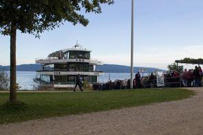 Bereits zum 15. Mal findet die Schiffswallfahrt am Brombachsee statt. pde-Foto: Anita Hirschbeck