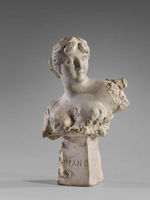 Sculpture réalisée à l'âge de 15 ans. Photo : ©artcurial