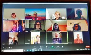 Austausch über Online-Videokonferenz