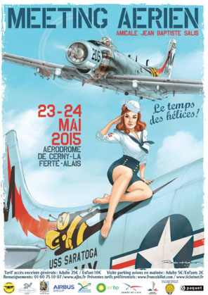 Photo 1 : Affiche officielle de l'édition 2015 dessinée par Romain Hugault