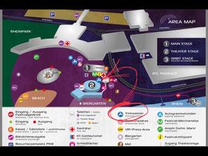 Screenshot des Lageplans des Amphi-Festivals 2018 / Foto: Gothamella