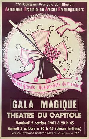 Affiche gala XVème congrès par Satalys - Collection Arh Toulouse