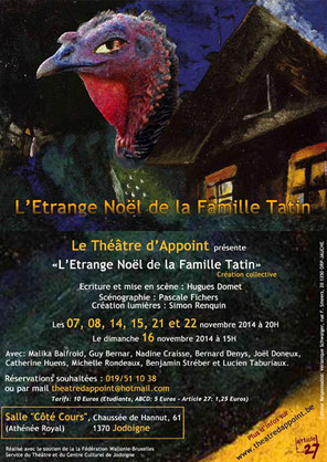 Théâtre d'Appoint TDA -  spectacle 2014 - L'Etrange Noël de la Famille Tatin
